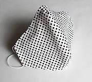 Ochranné rúško 3-vrstvové - biele bodkované