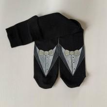 """Obuv - Maľované ponožky pre ženícha (s """"frakom"""" a dátumom) - 11929818_"""