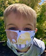 - Detské rúško - Sloníci (Pestrofarebná) - 11933763_