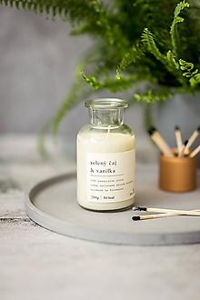 Svietidlá a sviečky - Sójová sviečka - Zelený čaj a vanilka - 11932411_