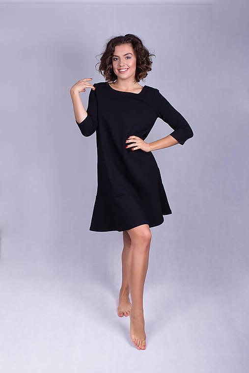 Šaty - Šaty volán black - 11933408_