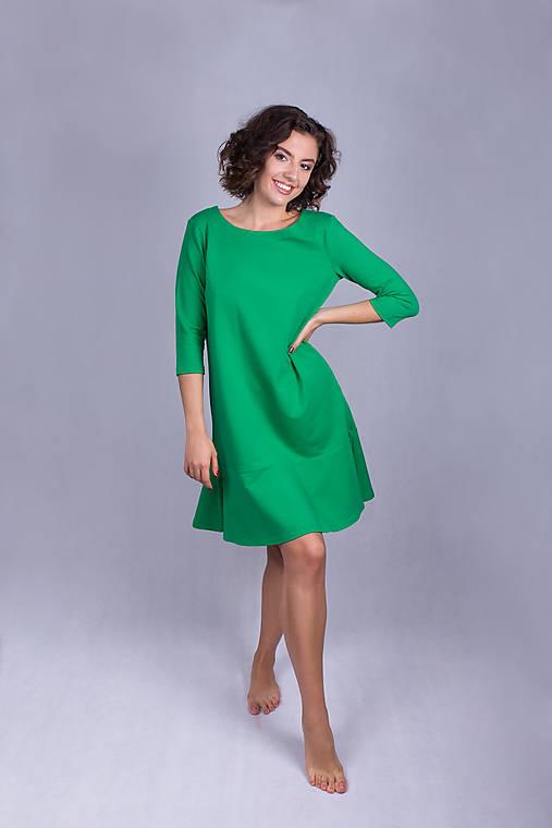 Šaty - Šaty volán green - 11933455_