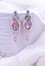Náušnice - Roses - soutache earrings - 11928289_