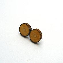 Náušnice - Drevené náušnice napichovacie - z morušovej halúzky - 11930977_