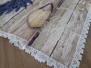 Úžitkový textil - Sada Lavande na dreve (Prestieranie) - 11937282_