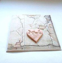 Papiernictvo - Pohľadnica so ♥ ... - 11937927_