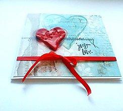 Papiernictvo - Pohľadnica so ♥ ... II - 11937967_