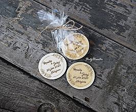 Pierka - svadobné magnetky - 11935992_