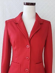 Kabáty - Dámske sako červené - 11935342_