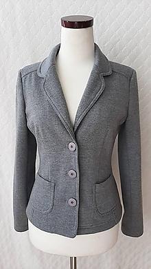 Kabáty - Dámske sako šedé - 11935369_