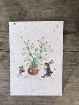 Papiernictvo - Kvitnúce pohľadnice - 11934357_