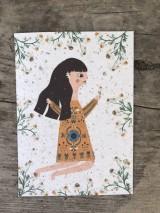 Papiernictvo - Kvitnúce pohľadnice - 11934375_