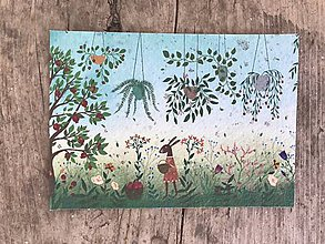 Papiernictvo - Kvitnúce pohľadnice  (Zajačik) - 11934363_
