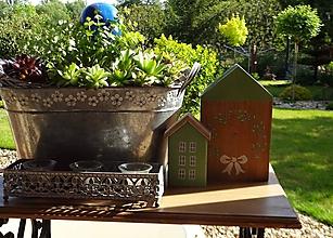 Dekorácie - Zelené domčeky - 11934888_