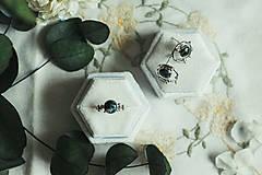 Prstene - Strieborný ligotavý prsteň so serafinitom - Bokeh Serafine - 11935229_