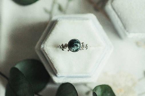 Strieborný ligotavý prsteň so serafinitom - Bokeh Serafine