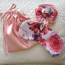 Iné doplnky - Maska na spanie - darčekový set KVETY - 11938063_
