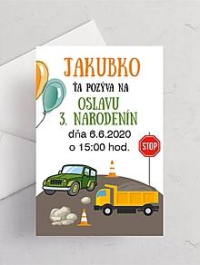 Detské doplnky - Narodeninové pozvánky pre chlapcov - 11937955_