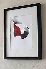 Obrazy - konflikt . akvarel . A4 - 11936366_