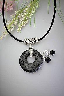 Sady šperkov - láva prívesok a náušnice SUPERAKCIA! - 11935679_