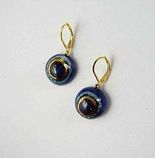 Náušnice - TANA hand made jewellery - keramika/zlato - 11935684_