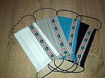 Rúška - AKCIA - Dvojvrstvové bavlnené rúško na tvár - 100% bavlna - SET - 11936956_