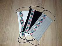 Rúška - AKCIA Set 3 ks - dvojvrstvové bavlnené rúško na tvár - 100% bavlna- folklórny - 11936966_