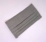 Rúška - Dvojvrstvové bavlnené rúško na tvár - 100% bavlna - sivé bodkované - 11938903_