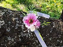 Náramky - Ružový kvetovaný náramok pre družičky - 11936595_