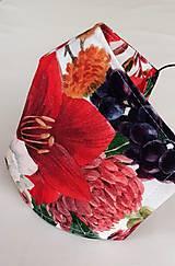"""Rúška - Dizajnové rúško """"Jesenné kvety"""" dvojvrstvové - 11934196_"""