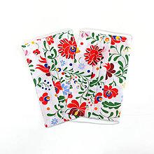 Rúška - DVOJVRSTVOVÉ folklórne bavlnené rúško na tvár - 100% bavlna - textilné - rúška - folk - 11936512_