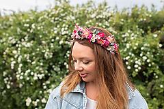 """Ozdoby do vlasov - Kvetinový polvenček  """"malinové leto"""" - na ukážku - 11937801_"""