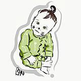 Grafika - Detský grafický portrét na objednávku - 11936201_
