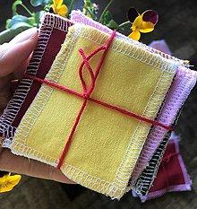 Úžitkový textil - zerowaste odličovacie tampóny - 11935976_