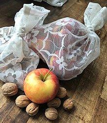 Úžitkový textil - bezodpadové vrecúška zo záclon - 11936540_