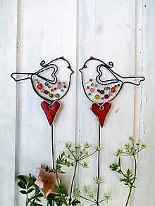 Dekorácie - vtáčik  s kramickým ♥ - 11936973_