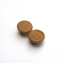 Náušnice - Drevené náušnice klipsňové - dubové vypuklé - 11936770_