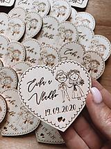 Darčeky pre svadobčanov - Magnetky pre svadobných hostí svadobný párik - 11940128_