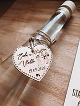 Darčeky pre svadobčanov - Srdiečka svadobný párik - 11943171_