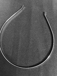 Komponenty - Čelenka na dotvorenie strieborná - 11944706_