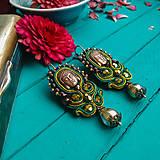Náušnice - Vintage soutache earrings n.14- sutaškové náušnice - 11944466_