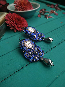 Náušnice - Vintage soutache earrings n.15- sutaškové náušnice - 11944488_