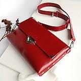Kabelky - Kožená kabelka MaxiMe (červená) - 11939695_