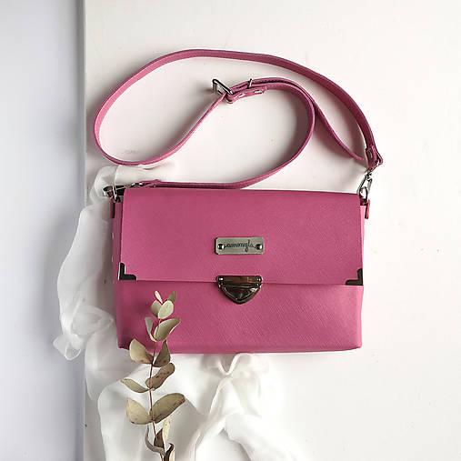 Kabelky - Kožená kabelka MaxiMe (ružová) - 11939698_