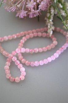 Minerály - ruženín korálky 4mm SUPERAKCIA! - 11945436_