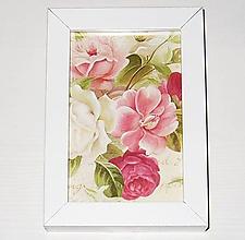 Rámiky - Vintage obrázok ruže - 11939585_
