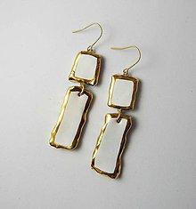 Náušnice - Tana šperky - keramika/zlato - 11939784_