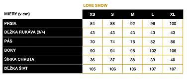 Šaty - Šaty LOVE SHOW - 11939940_