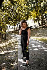 Šaty - Overal AMÉLIE na dojčenie - ľan - 11941911_