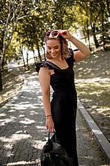Šaty - Overal AMÉLIE na dojčenie - ľan - 11941939_